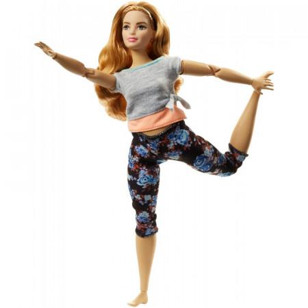 Papusa Barbie yoga cu par castaniu Barbie Made to Move