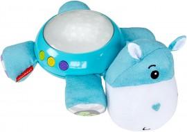 Proiector Hipopotam de plus cu sunete si lumini Fisher Price