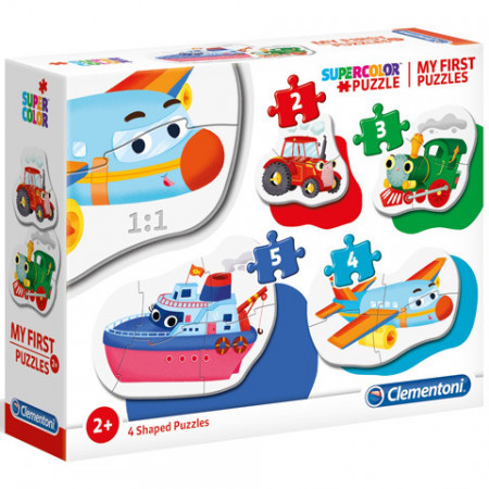 Puzzle Maxi 4 in 1 Vehicule Clementoni 14 piese