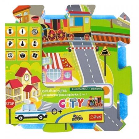 Puzzle din spuma City Fun 8 piese