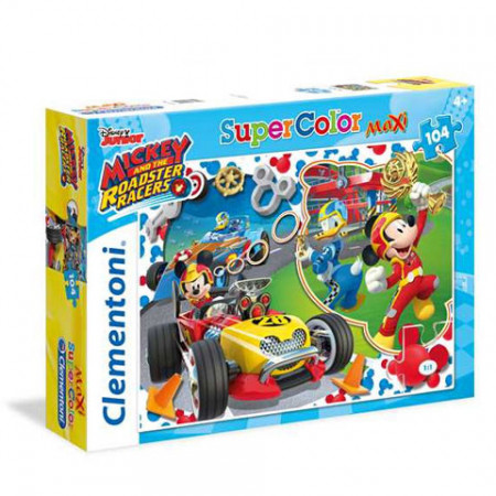 Puzzle Maxi Mickey and the Roadster Racers Clementoni 104 piese