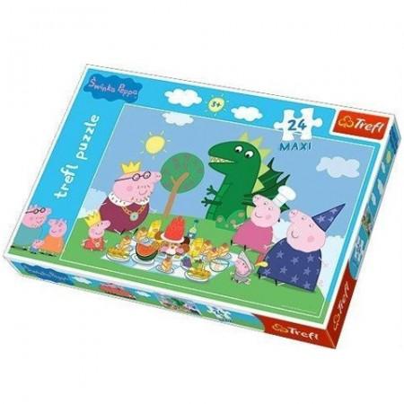 Puzzle Maxi Purcelusa Peppa la picnic 24 piese
