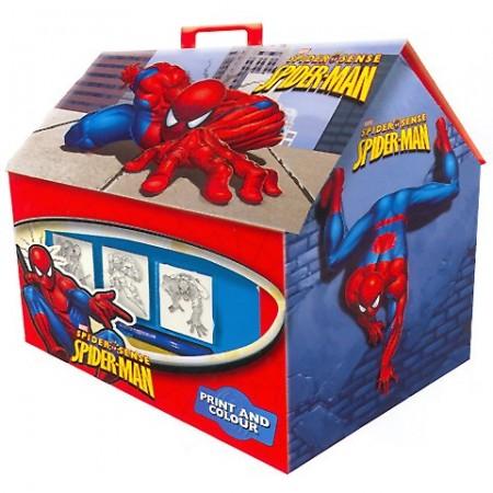 Set creativ de stampile in cutie Spiderman