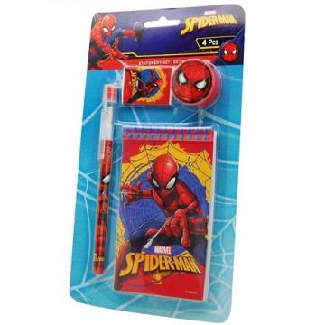 Set de papetarie Spiderman 4 bucati