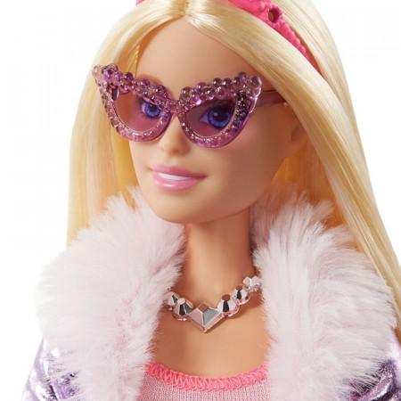 Set papusa Barbie blonda cu 5 accesorii Barbie Princess Adventure