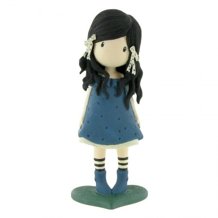Figurina Gorjuss cu rochita albastra Gorjuss