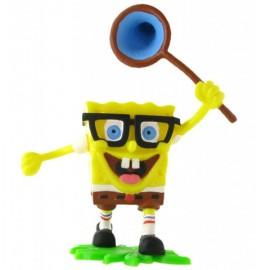 Figurina SpongeBob cu plasa SpongeBob Pantaloni Patrati