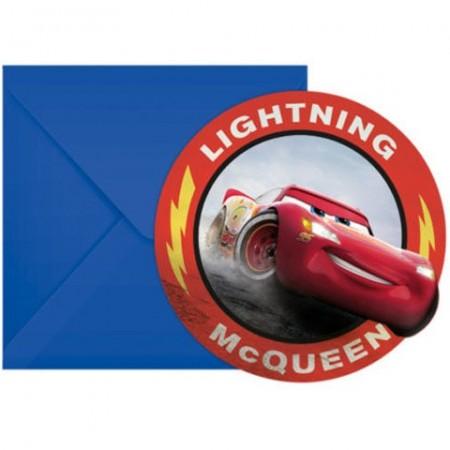 Invitatii pentru petrecere Fulger McQueen Cars 3