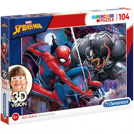 Puzzle 3D Spiderman Clementoni 104 piese
