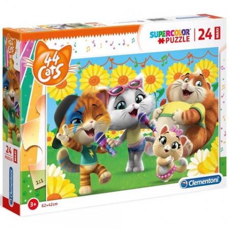 Puzzle 44 Cats Clementoni 24 piese