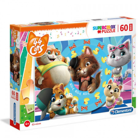 Puzzle Glitter 44 Cats Clementoni 60 piese
