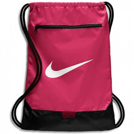 Sac de umar cu snur Nike Brasilia mare roz