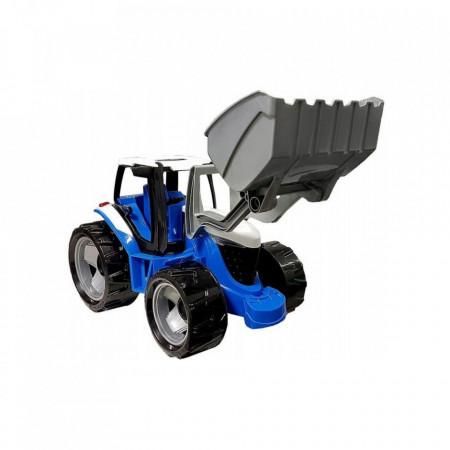 Tractor buldozer albastru Lena 62 cm