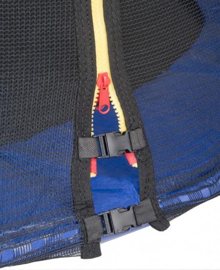 Trambulina cu plasa de protectie Sportmann Fun albastru 140 cm