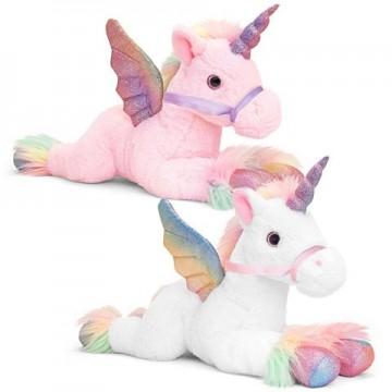 Unicorn de plus cu aripi Pegasus in doua variante 50 cm