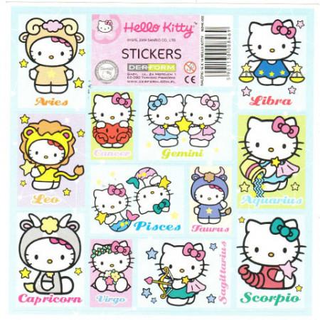 Abtibilduri  Zodii Hello Kitty 12 bucati