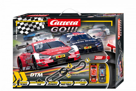 Circuit electric masinute BMW M4 si Audi RS 5 DTM Power Carrera Go 6,2 m