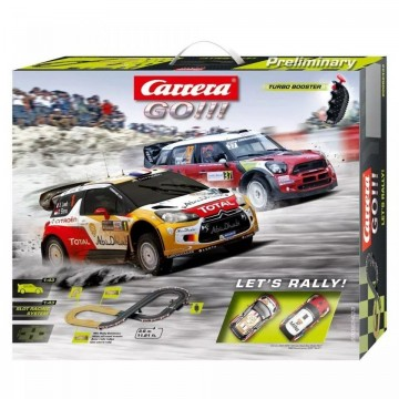 Circuit electric masinute Citroen DS3 si Mini Cooper Countryman Let's Rally Carrera Go 3,6 m