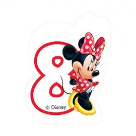 Poze Lumanare tort cifra 8 Minnie Mouse ClubHouse