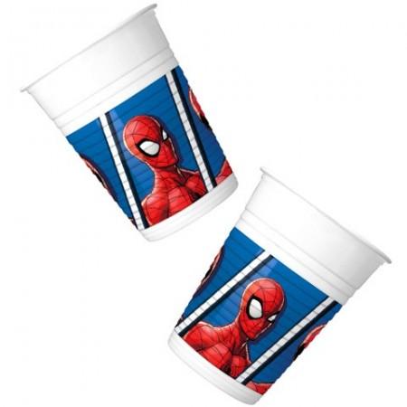 Pahare de plastic pentru petrecere Spiderman