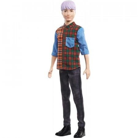 Papusa Ken cu par mov Barbie Fashionistas