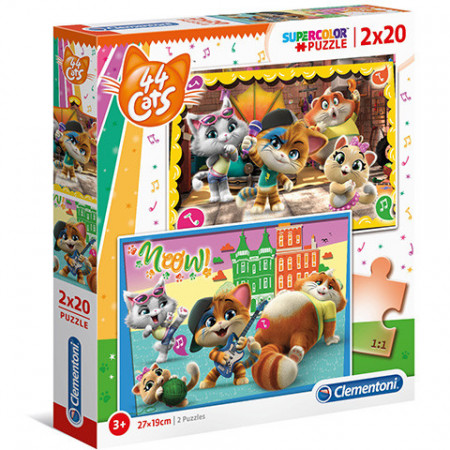 Puzzle 44 Cats Clementoni 2x60 piese