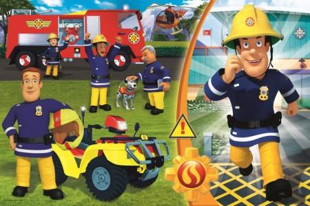 Puzzle Maxi Pompierul Sam 24 piese