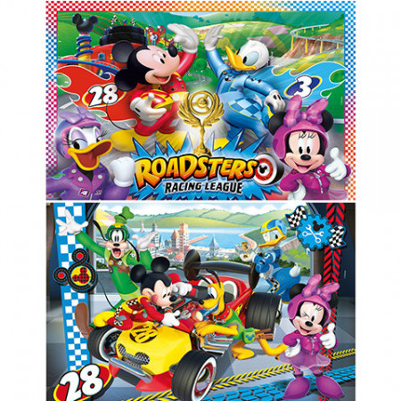 Puzzle Mickey and the Roadster Racers Mickey Mouse Clementoni 2x20 piese