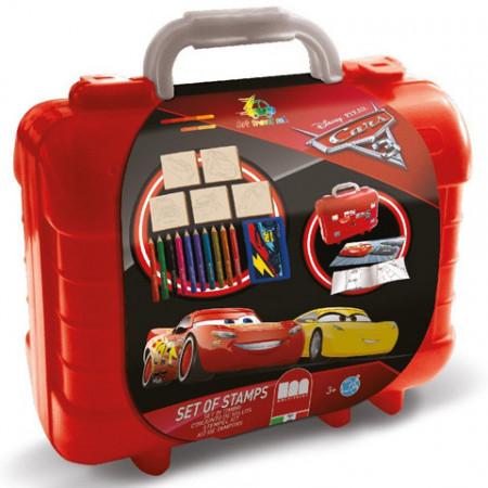 Set creativ de stampile, abtibilduri si creioane colorate Cars 3