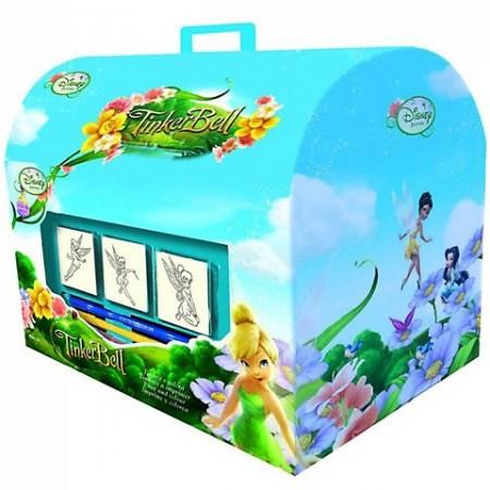 Set creativ de stampile in cutie Clopotica Printesele Disney