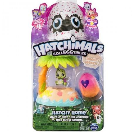 Set de joaca Hatchimal CollEGGtibles Breezy Beach Light Up Nest Seria 4