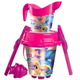 Set jucarii pentru nisip Shimmer and Shine 6 piese