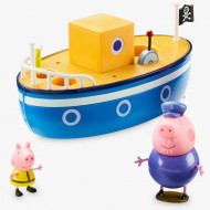 Set de joaca Grandpa Pig's Bathtime Boat Purcelusa Peppa