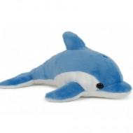 Delfin de plus albastru 20 cm