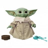 Figurina de plus cu sunete Baby Yoda The Mandalorian Star Wars 19 cm