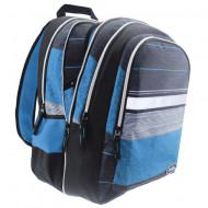 Ghiozdan scoala ergonomic 2 in 1 Must albastru 48 cm