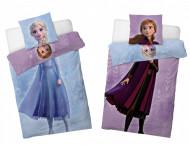 Lenjerie pat cu doua fete Frozen 160x200 cm FR191204