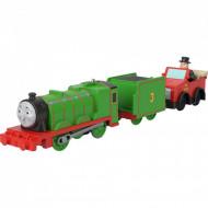Locomotiva motorizata Henry cu doua vagoane si Winston Thomas si Prietenii Track Master