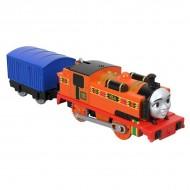 Locomotiva motorizata Nia cu vagon Thomas si Prietenii Track Master