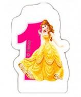 Lumanare tort cifra 1 Belle Printesele Disney