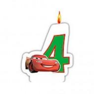 Lumanare tort cifra 4 Fulger McQueen Cars