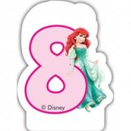 Lumanare tort cifra 8 Ariel Printesele Disney