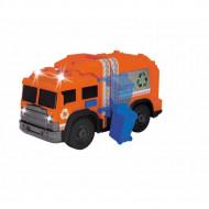 Masina de gunoi cu sunete si lumini Dickie Toys 30 cm