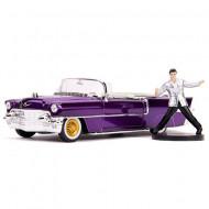 Masinuta metalica 1956 Cadillac Eldorado & Elvis Presley Hollywood Rides 21 cm