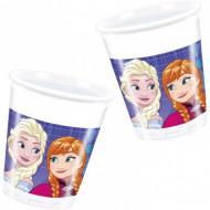 Pahare de plastic pentru petrecere Anna si Elsa Frozen