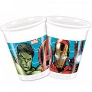 Pahare de plastic pentru petrecere Avengers