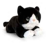Pisica de plus alb-negru 32 cm