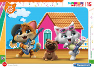 Puzzle 44 Cats Clementoni 15 piese