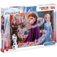 Puzzle Glitter Frozen 2 Clementoni 104 piese