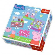 Puzzle Purcelusa Peppa 3 in 1